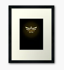Hyrule Legend of  Zelda Link Crest triforce hylian shield Framed Print