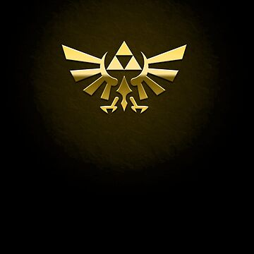 Hyrule Legend of  Zelda Link Crest triforce hylian shield by datthomas