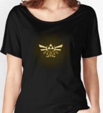 Hyrule Legend of  Zelda Link Crest triforce hylian shield Women's Relaxed Fit T-Shirt