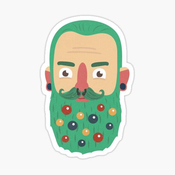 Beard Baubles Sticker
