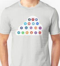 Social Media Cloud Icons Unisex T-Shirt