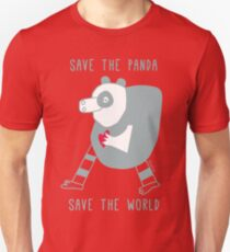 save the panda save the world! Unisex T-Shirt
