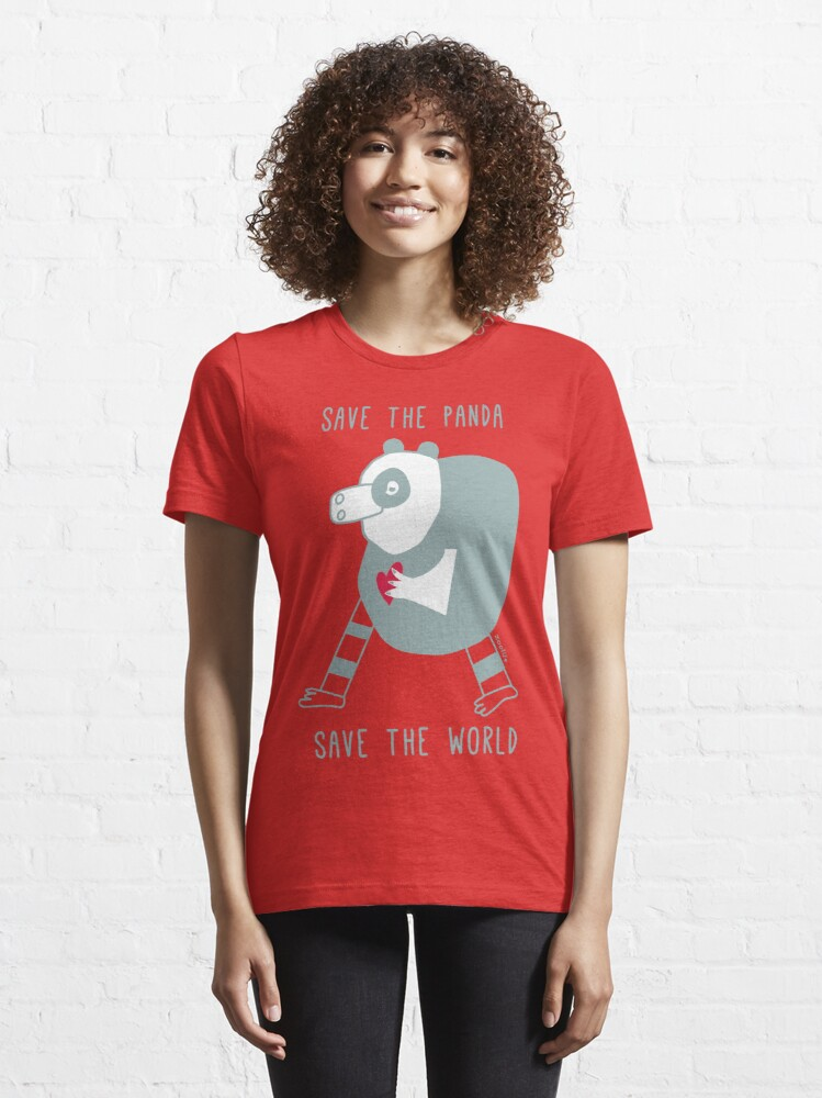 Alternate view of save the panda save the world! Essential T-Shirt
