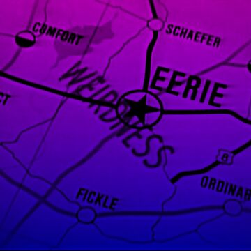 Eerie Indiana map in blue and purple by froodle