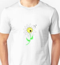 Singing daisy emoticon T-Shirt