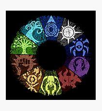 Grunge Guild Wheel Photographic Print