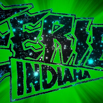 Eerie Indiana logo in green by froodle