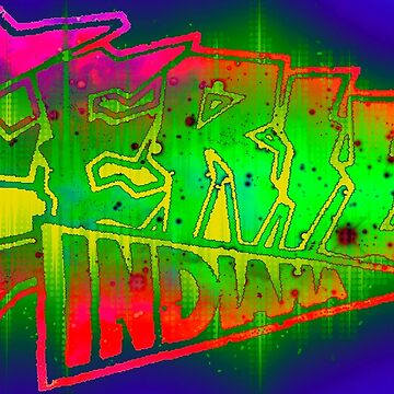 Eerie Indiana logo design 90s style by froodle