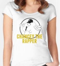 Chancey the rapper Women's Fitted Scoop T-Shirt