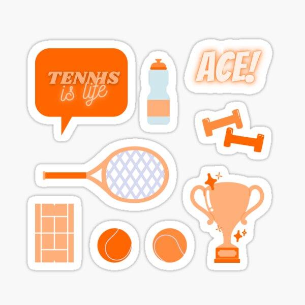 Tennis is Life Sticker Pack Orange Sticker