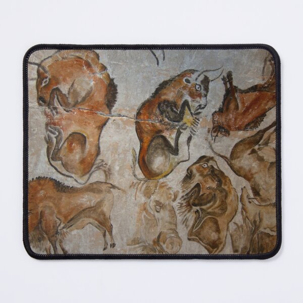 Paleolithic cave painting of bisons (replica) from the Altamira cave, Cantabria, Spain, painted c. 20,000 years ago Mouse Pad