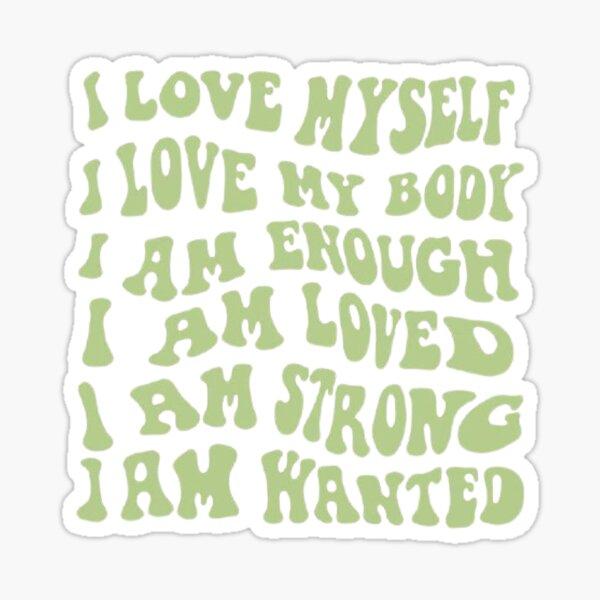 I am affirmations <3 . Sticker