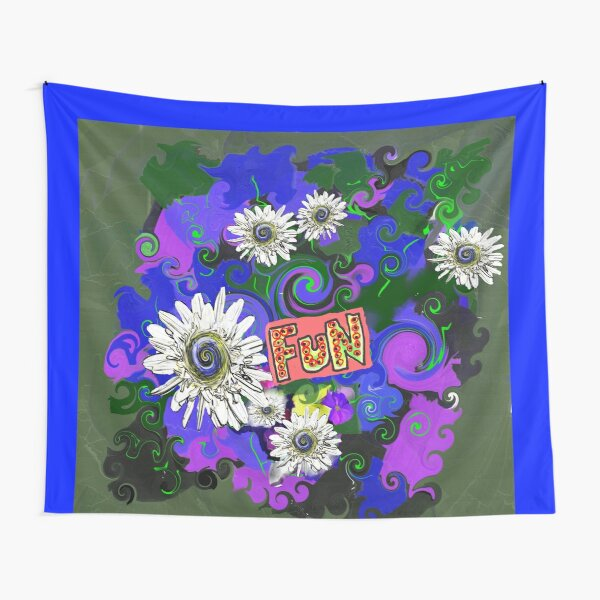 Bright Floral Fun With Daisies Tapestry