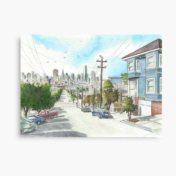 """View from Arkansas Street"" Canvas Print"
