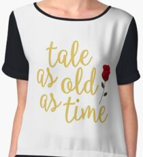Tale as old as Time Women's Chiffon Top