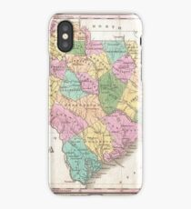 Vintage Map of South Carolina (1827) iPhone Case