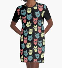 Cat Shirt Graphic T-Shirt Dress