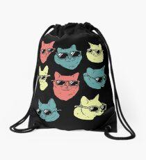 Cat Shirt Drawstring Bag