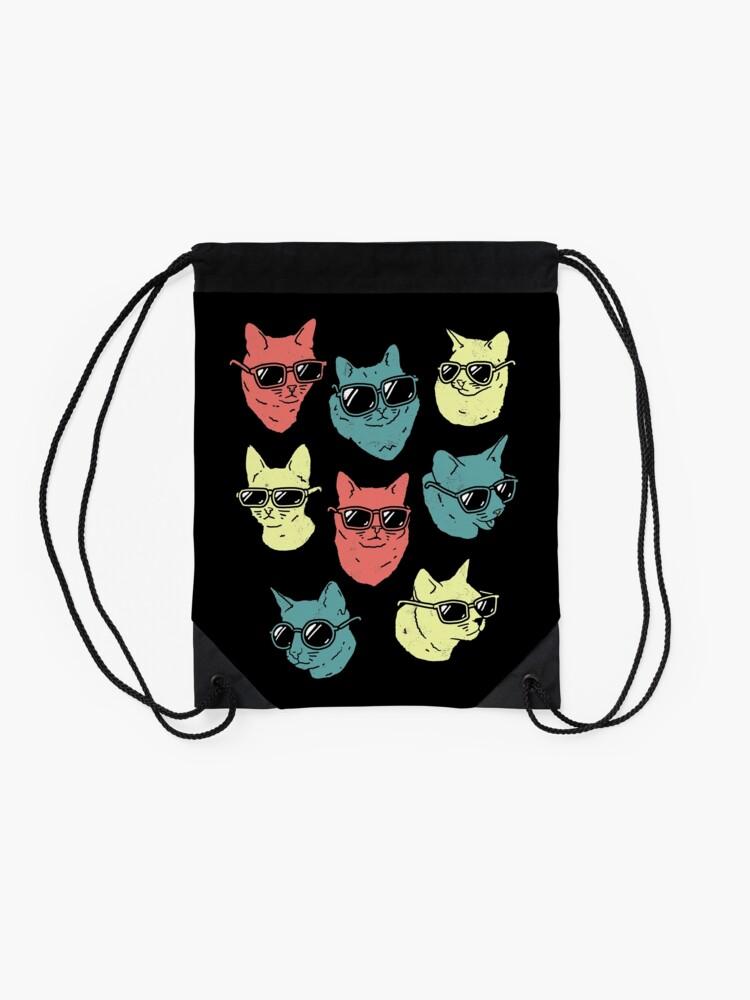 Alternate view of Cat Shirt Drawstring Bag