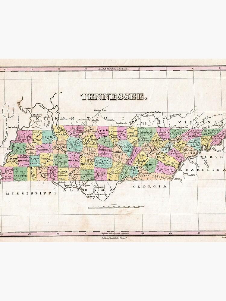 Lámina fotográfica «Mapa vintage de Tennessee (1827)» de ...