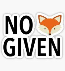 No Fox Given! Sticker