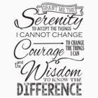 Serenity Prayer - Chalk Typography by RecoveryGift