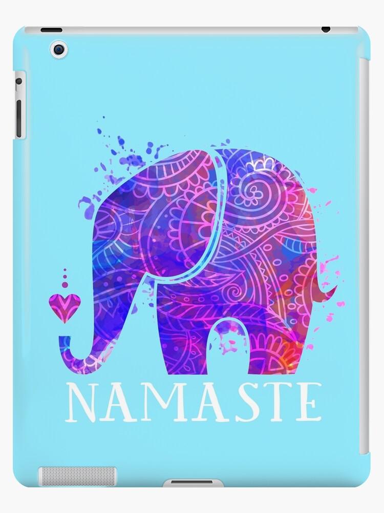 Namaste Elephant Peaceful Watercolor by zenspired