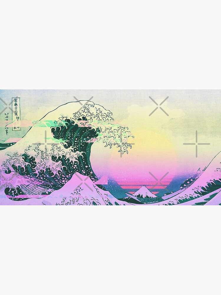 Aesthetic Vaporwave Great Wave Off Kanagawa Retro by ind3finite