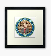 Parks and Rec Pawnee Seal Framed Print