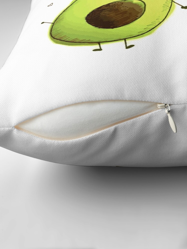 Alternate view of avocados Throw Pillow