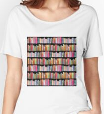 Bookworms Delight / Antique Book Library for Bibliophile Women's Relaxed Fit T-Shirt