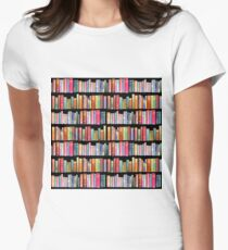 Bookworms Delight / Antique Book Library for Bibliophile Women's Fitted T-Shirt
