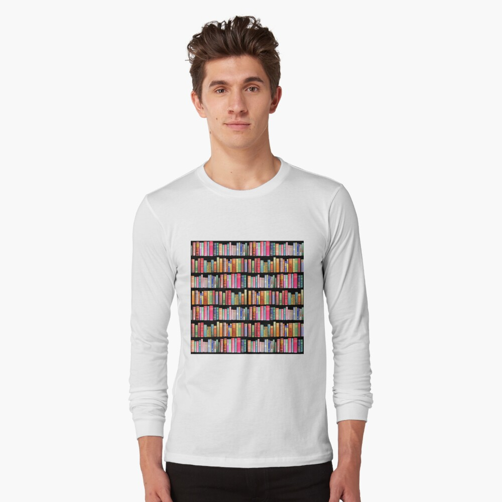 Bookworms Delight / Antique Book Library for Bibliophile Long Sleeve T-Shirt