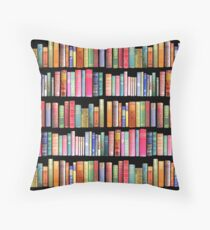 Bookworms Delight / Antique Book Library for Bibliophile Throw Pillow