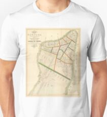 Camiseta ajustada Vintage Map of New York City (1831)