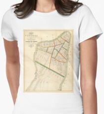 Camiseta entallada para mujer Vintage Map of New York City (1831)