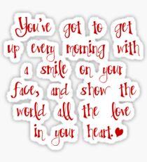 """""""Beautiful"""" (Carole King) lyrics Sticker"""