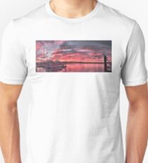Pink Nautical Dawn. Tin Can Bay, Photo Art, Prints, Gifts. Unisex T-Shirt