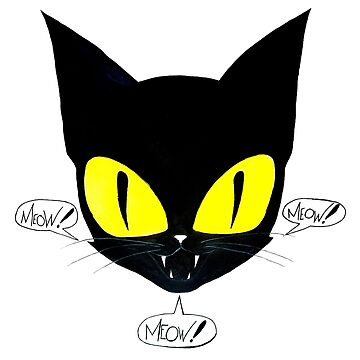 Black Cat Meow Meow Meow by jackdcurleo