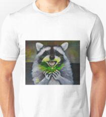 Kiki; the Curious Dumpster Panda Finds a Firefly Unisex T-Shirt