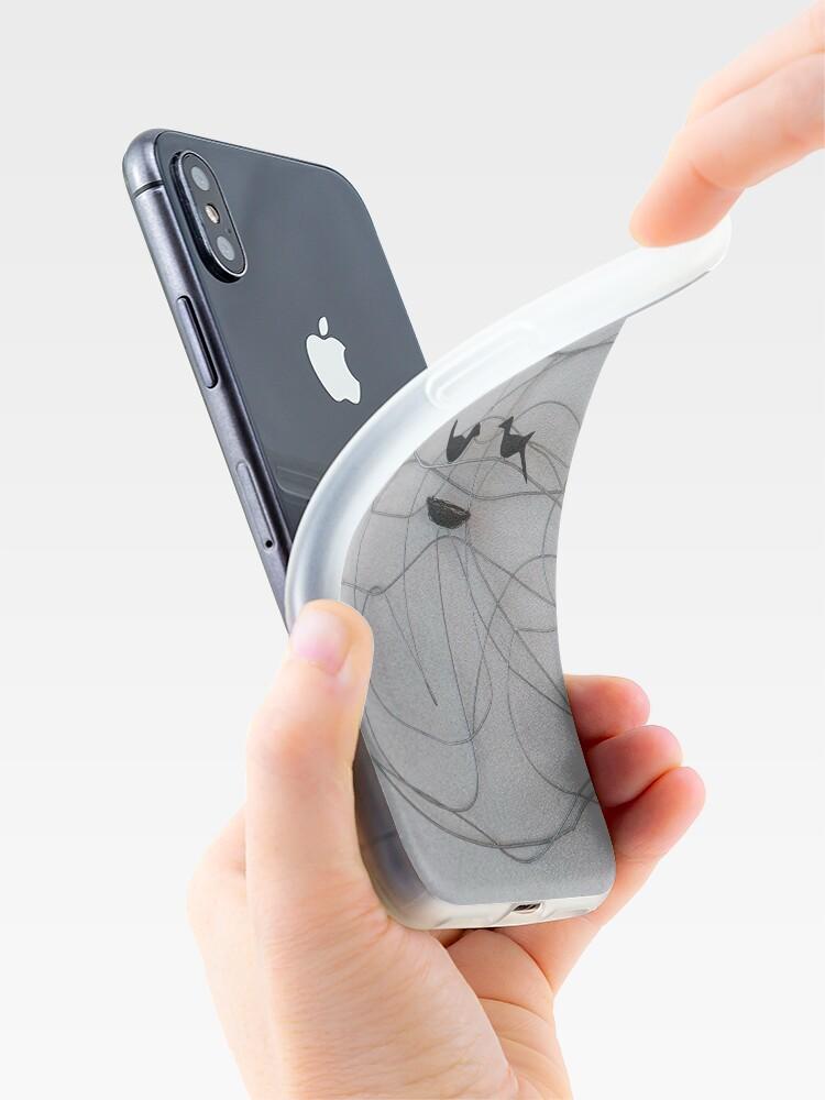 Alternate view of Line Art  iPhone Case