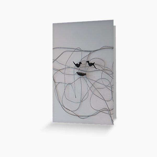 Line Art  Greeting Card