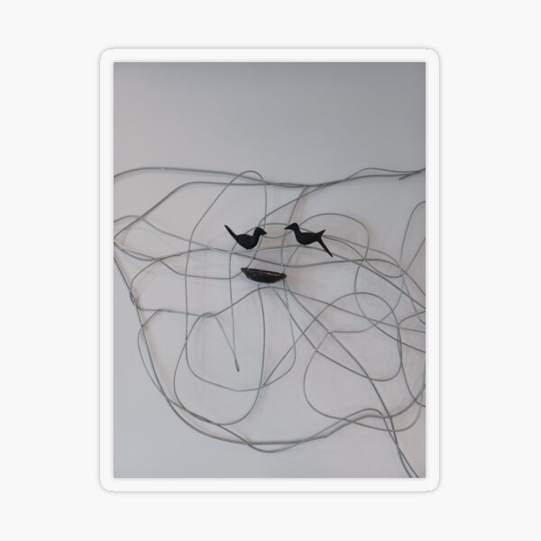 Line Art  Transparent Sticker