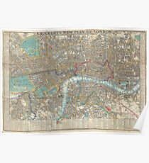 Vintage Map of London (1848) Poster