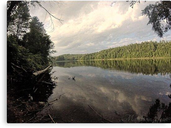 vermont lake by mandarinjean