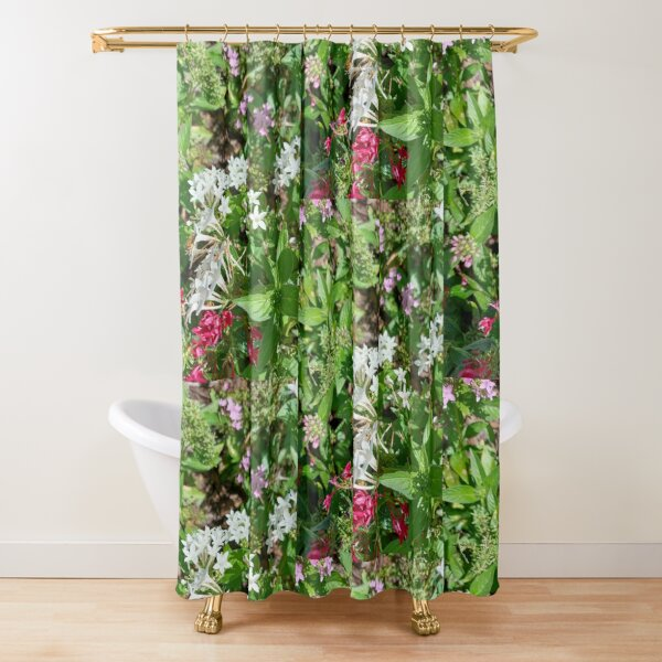 Butterfly Bush Plant Art  Shower Curtain