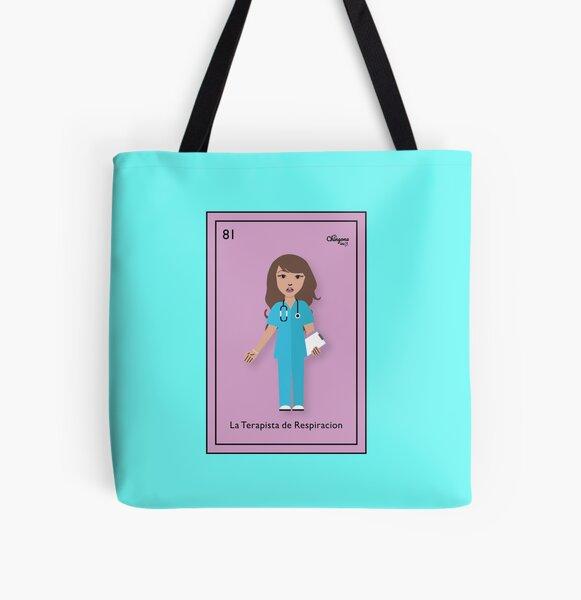 La Terapista de Respiracion All Over Print Tote Bag