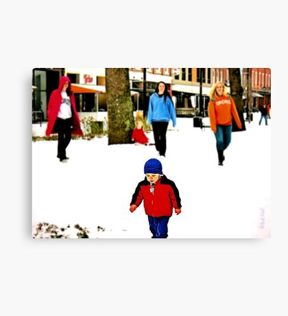 """""""Don't Run Over that Man with a Camera""""... prints and products Canvas Print"""