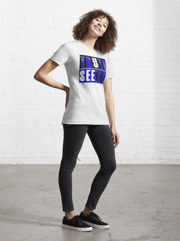 Alternate view of Real Truth-Seeker (Blue) Essential T-Shirt