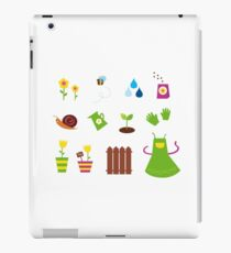 Spring, garden &, agriculture symbols and elements iPad Case/Skin